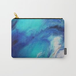 Blue Watercolor Abstract Carry-All Pouch