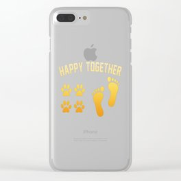 Happy together Clear iPhone Case