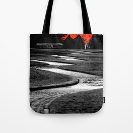 Where We'll Meet At The Big Red Tree Tote Bag