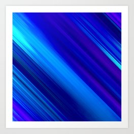 Abstract watercolor colorful lines painting Art Print