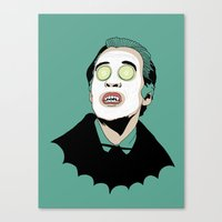 dracula Canvas Prints featuring DRACULA by DeeDoubleU