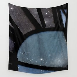 Starry Night - Clock Tower Wall Tapestry