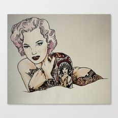 Sucide girl Monroe Canvas Print