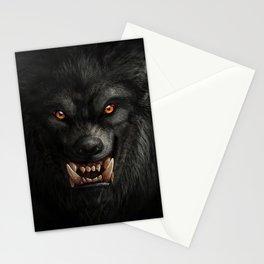 Creepy Art, Halloween, Werewolf, Horror Art Stationery Cards