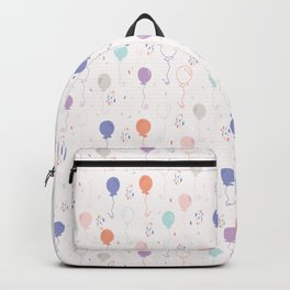 Pastel Party Balloon Vector Pattern Seamless Backpack