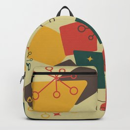 Mid Century Modern Futuro (gold) Backpack