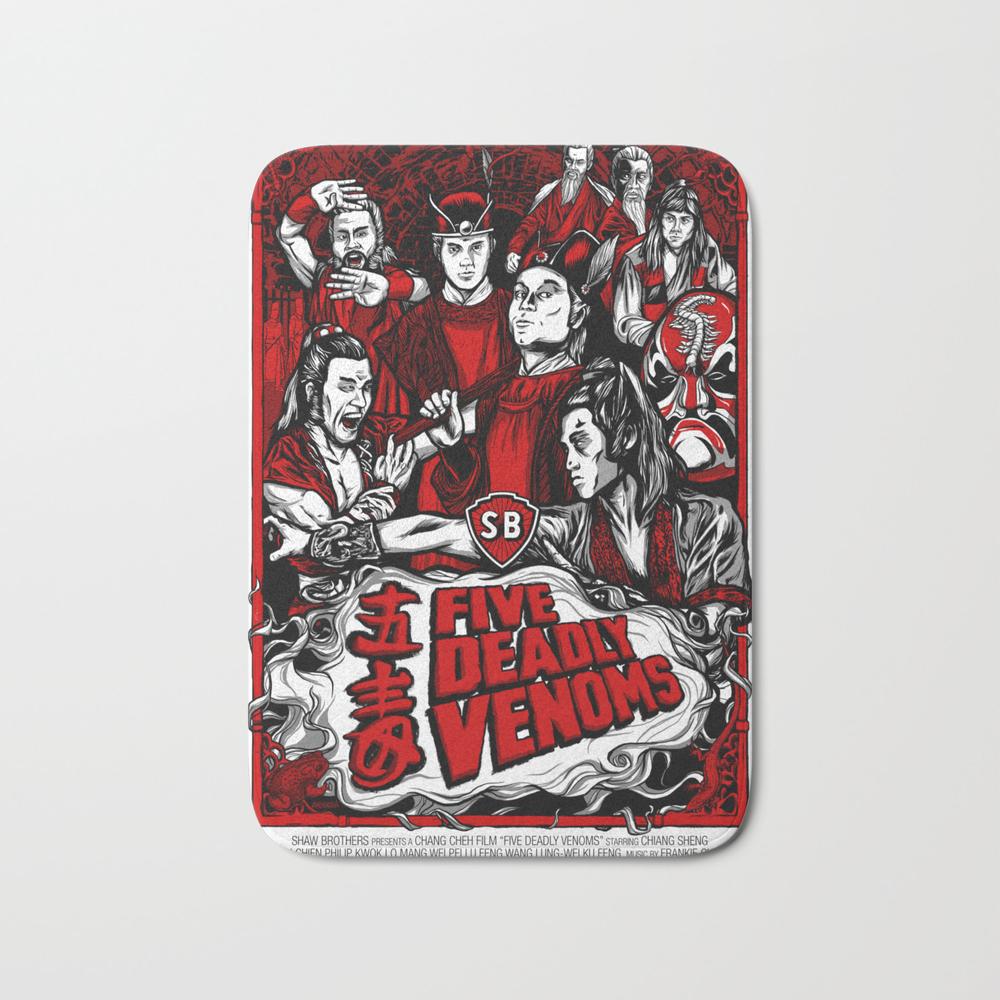 Five Deadly Venoms Movie Poster Bath Mat by Legendaryweapons BMT7696440