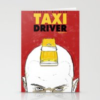 taxi driver Stationery Cards featuring Taxi Driver by Matthew Bartlett