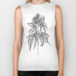 Cannabis Illustration Biker Tank