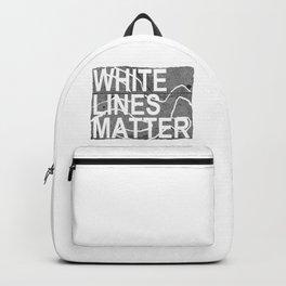 white lines matter Backpack