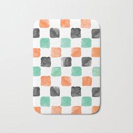Watercoloured Chess Bath Mat