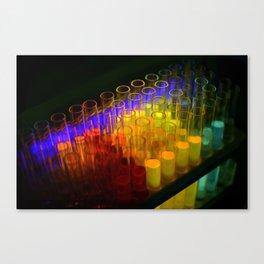 Fluorescent test tubes Canvas Print