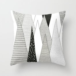 Stalagmites and Stalactites Throw Pillow