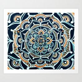 Bohemian Zen Mandala Art Print