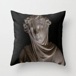 Statue. Throw Pillow