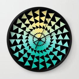 Radial Triangles Wall Clock
