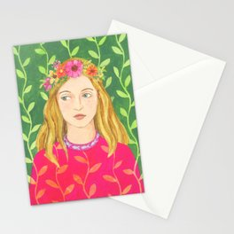 Maisie in a Flower Crown Stationery Cards