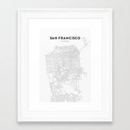 San Francisco Map Framed Art Print
