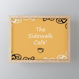 The Sidewalk Cafe Framed Mini Art Print