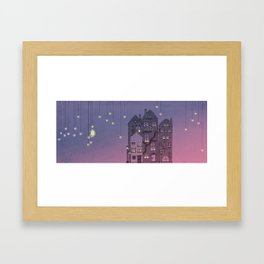 Midnight Teaparty Framed Art Print