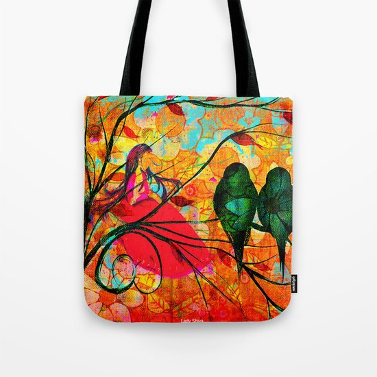 """"""" O free birds, proud, charming, pure, without troubles."""" Tote Bag"""