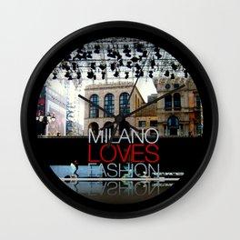 Milano Loves Fashion  Wall Clock