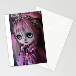 LITTLE OCTOPUS CUSTOM BLYTHE ART DOLL PINK NAVY Stationery Cards