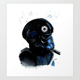 Tie pilot Empire Star Watercolor Fanart Mugs Tshirts Prints Art Print