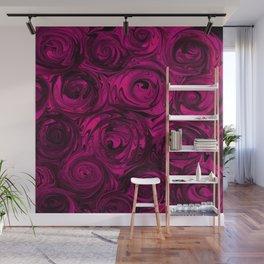 Berry Fuchsia Roses Wall Mural