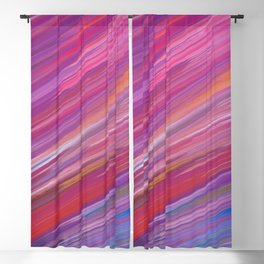 Artsy pink purple blue watercolor brushstrokes Blackout Curtain