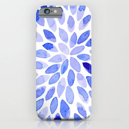 Watercolor brush strokes - blue iPhone Case