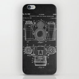 Chalkboard Camera Patent iPhone Skin