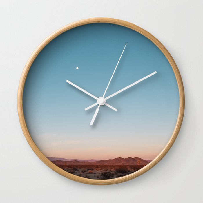 Desert Sky with Harvest Moon Wall Clock