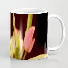 Exotic Colorful Flowers On A Black Background #decor #society6 Coffee Mug