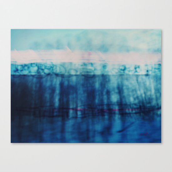 Abstract ~ Blue Landscape Canvas Print