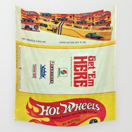 1969 Hot Wheels Redline Toy Cars Shell Gas Station Promotional Poster Wall Tapestry