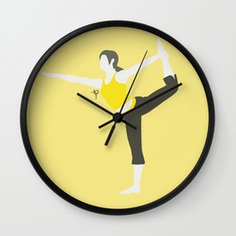 Wii Fit Trainer♀(Smash)Yellow Wall Clock