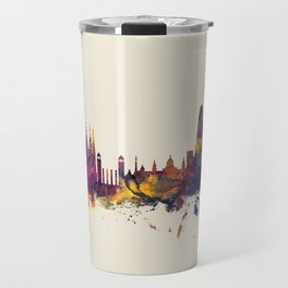 Barcelona Spain Skyline Travel Mug