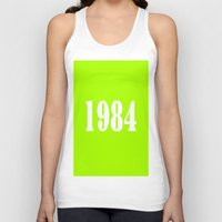 1984 Tank Tops featuring 1984 by TheWank