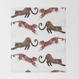 Cats Again Throw Blanket