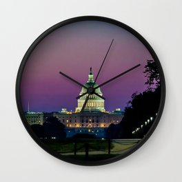 Dawn on The Hill Wall Clock