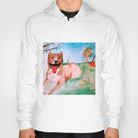 pit bull Hoodies featuring Pit Bull by Caballos of Colour