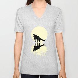 Sleeping Moon Unisex V-Neck