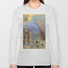 "Odilon Redon ""The Buddha"" Long Sleeve T-shirt"