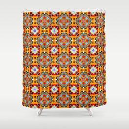 Grandiloquent Gameboard Pattern Shower Curtain