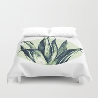 plant Duvet Covers featuring Agave Plant by Heart of Hearts Designs