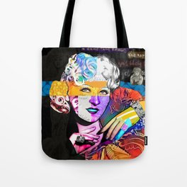 Mae West Collage Art Tote Bag