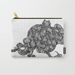 Black and White Floral Octopus  Carry-All Pouch