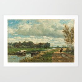 Landscape in the Environs of The Hague - Willem Roelofs (I) (1870-1875) Art Print