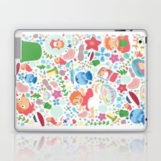 Ponyo Pattern - Studio Ghibli Laptop & iPad Skin